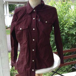 Womans Carhartt shirt.